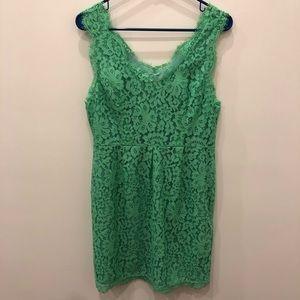 Joie Rori Dress - Green Lace